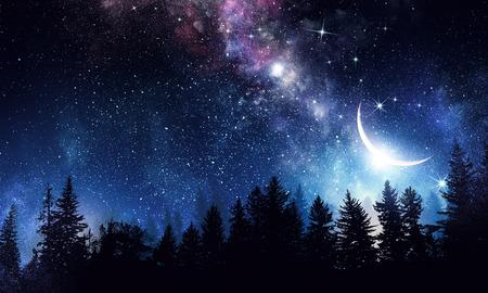 Foto de Stary clear night sky. Mixed media - Imagen libre de derechos