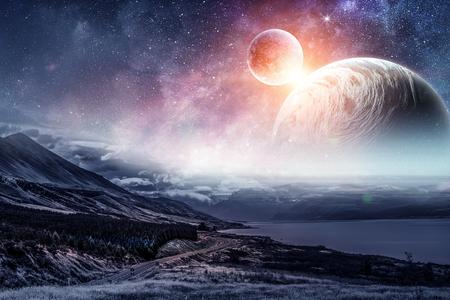 Photo pour Space planets and nature - image libre de droit