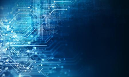 Foto de Futuristic background image with circuit board concept - Imagen libre de derechos