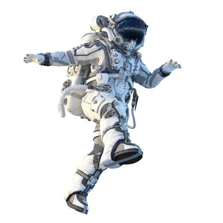 Photo pour Astronaut on white. Mixed media - image libre de droit