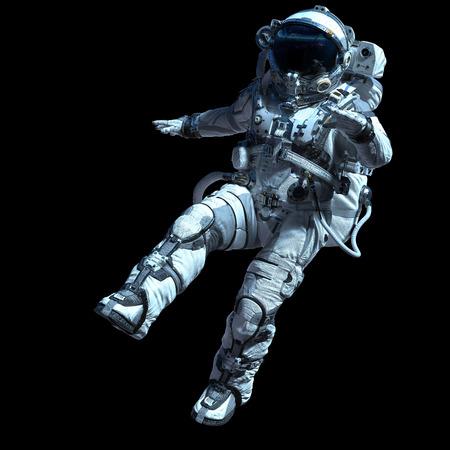 Photo pour Astronaut in darkness. Mixed media - image libre de droit