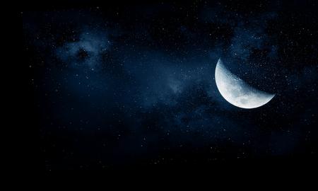 Foto de Romantic moon in sky - Imagen libre de derechos