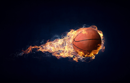 Photo pour Basketball game concept - image libre de droit