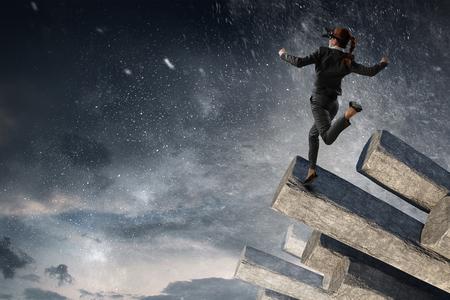 Photo pour Feel virtual reality. Mixed media - image libre de droit