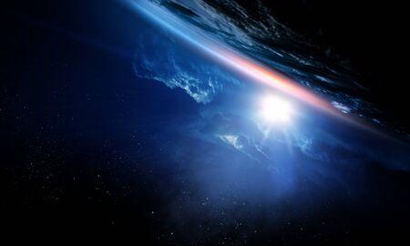 Foto de Deep space beauty. Planet orbit. - Imagen libre de derechos