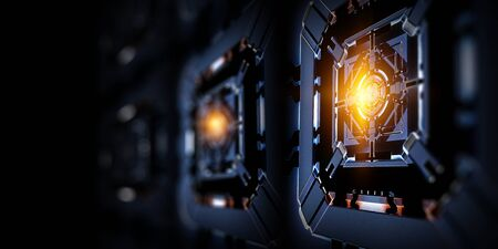 Photo pour Technological industrial abstract background - image libre de droit