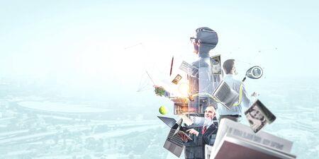 Foto de Business team concept. Mixed media - Imagen libre de derechos