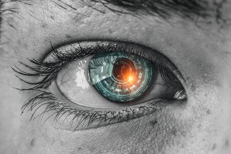 Photo pour Abstract high tech eye concept - image libre de droit
