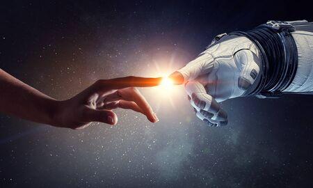Photo pour Concept of deep space exploration. Mixed media - image libre de droit
