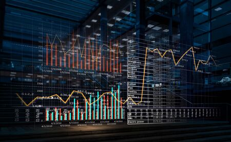 Photo pour Media technologies for business. Mixed media - image libre de droit