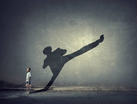 Photo pour He will be a champ. Mixed media - image libre de droit