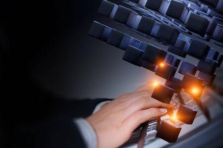 Photo pour Glowing cubes. Innovation and creativity concept - image libre de droit