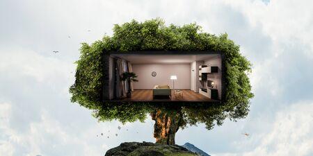 Photo pour Real estate and ecology concept - image libre de droit