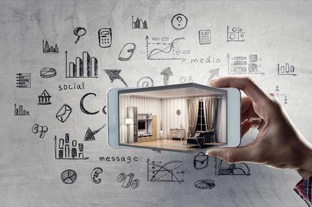 Photo pour Real estate concept . Mixed media - image libre de droit
