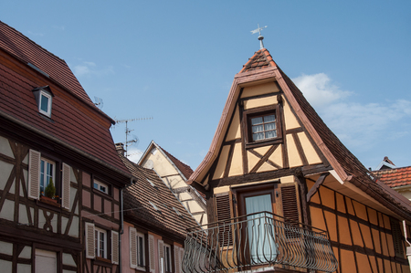 retail of traditional medieval architecture in the alsatian village of Barr near Strasbourg - France