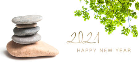 Photo for zen banner - happy new year card 2021 - Royalty Free Image