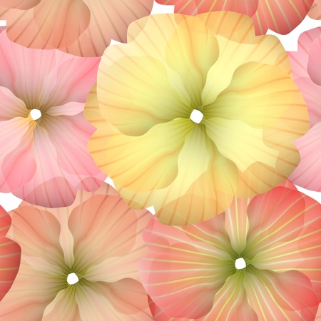 Seamless Primula Flowers Pattern for beautiful wallpapers