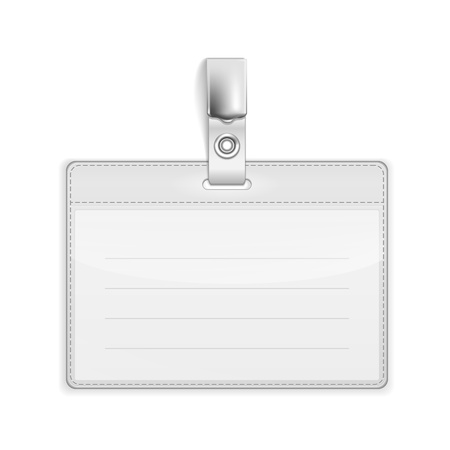 Illustration pour Realistic Card Name or Id Holder isolated on white. - image libre de droit