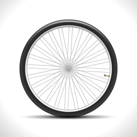 Bicycle Wheel isolated on white  Illustration