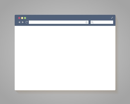 Vector Simple Browser Window in flat style