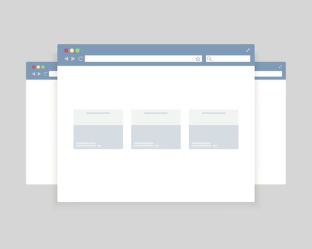 browser windows design for website presentation