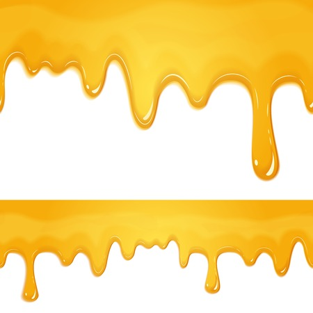 honey drips seamless patterns on white background