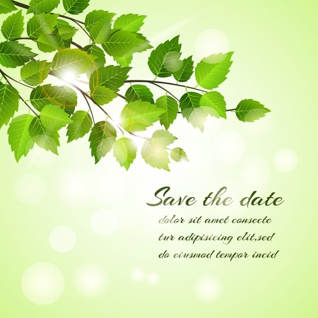 Fresh spring Save The Date card design