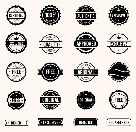 Illustration pour stamps set - image libre de droit