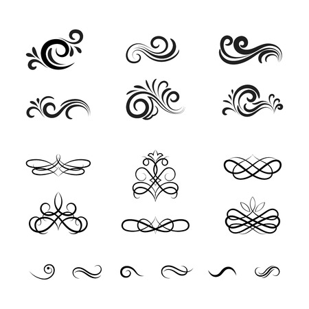 Beautiful Vintage Vector Decorative Elements and Ornaments for Graphic Designing such as in Web Pages and Greeting Cards.