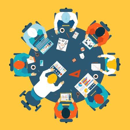 Illustration pour Brainstorming and teamwork concept - image libre de droit