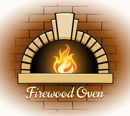 Firewood oven logo or badge