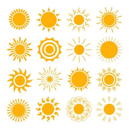 Illustration pour Orange Sun icons - image libre de droit