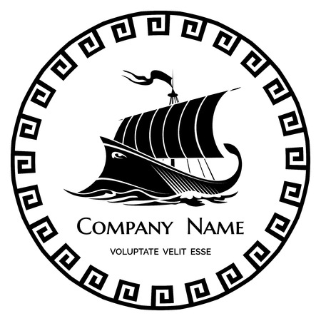 Ancient Greek Galley logo icon