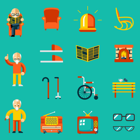 Elderly people icons