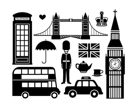 Illustration pour London icons - image libre de droit