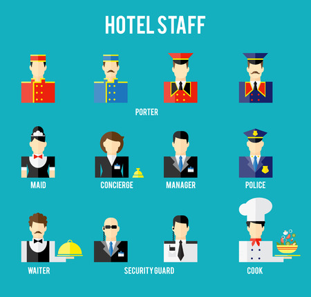 Vector hotel staff