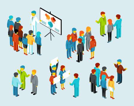 Illustration pour Business people meeting - image libre de droit