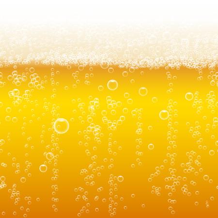 Illustration pour Beer foam background, horizontal seamless beer pattern - image libre de droit
