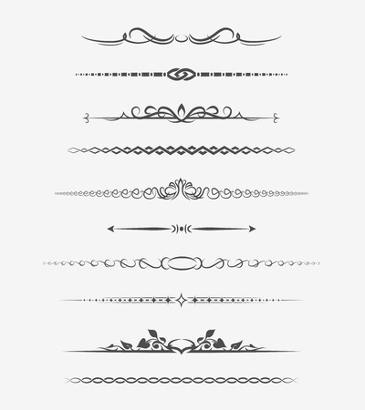 Calligraphic page dividers