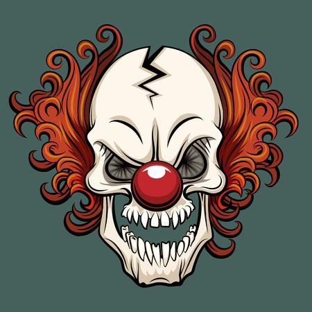 Illustration pour Vector evil clown. Clown scary, halloween clown monster, joker clown character illustration - image libre de droit
