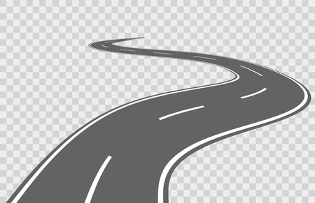 Abstract winding vector road. Road winding, travel road asphalt, street road for transportation, road highway illustrationの素材 [FY31058525069]