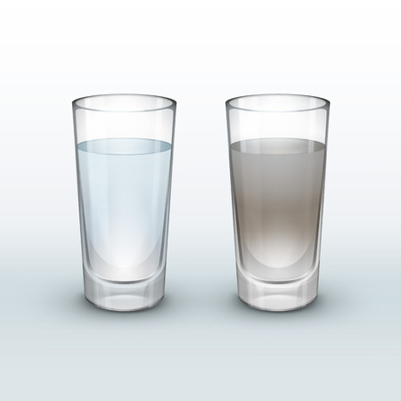 Illustration pour Clean, dirty water - image libre de droit