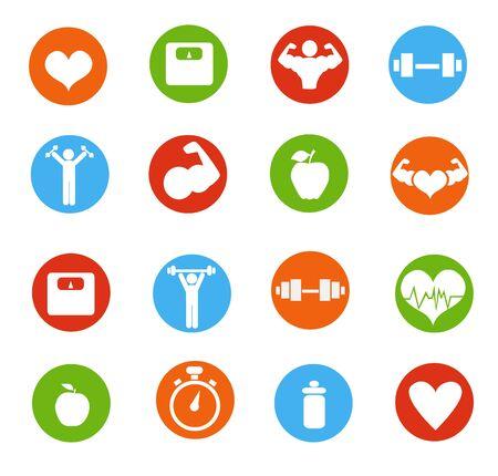Ilustración de Fitness icons vector illustration - Imagen libre de derechos