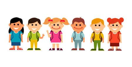 Illustration pour happy kids back to school - image libre de droit