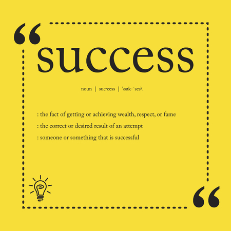 Illustration for Success definition - Royalty Free Image