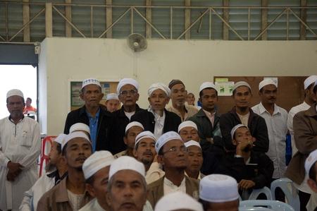 YALA, THAILAND - NOVEMBER 24:Unidentified Islamic religious chief attend for yala Islamic committee election in Yala Islamic committee election on Nov 24, 2011 at Yala Youth Center, Thailand