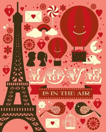 Ilustración de valentine s day graphic vector illustration - Imagen libre de derechos