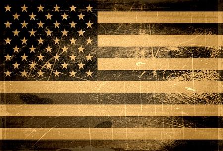 Old Grunge American Flag