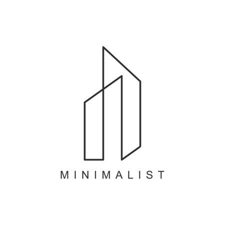 Illustration for minimalist Real Estate Logo Design Vector Illustration simple design - Royalty Free Image