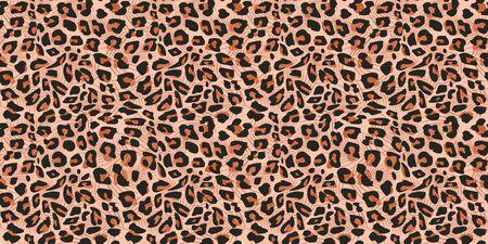 Illustration pour Cheetah skin seamless pattern vector illustration. Colorful trendy fashionable textile motifs background. - image libre de droit